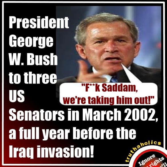 Bush Angry