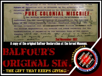 Image result for Balfour's original sin