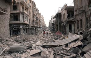 Destruction in Aleppo late 2012.