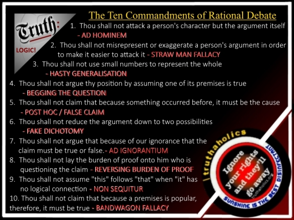 10 COMMANDS RATIONAL DEBATE